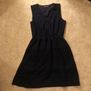 The Limited women's navy flowy midi dress